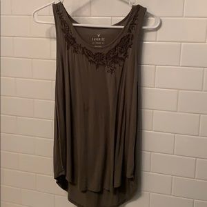 American Eagle Dark Green Tank